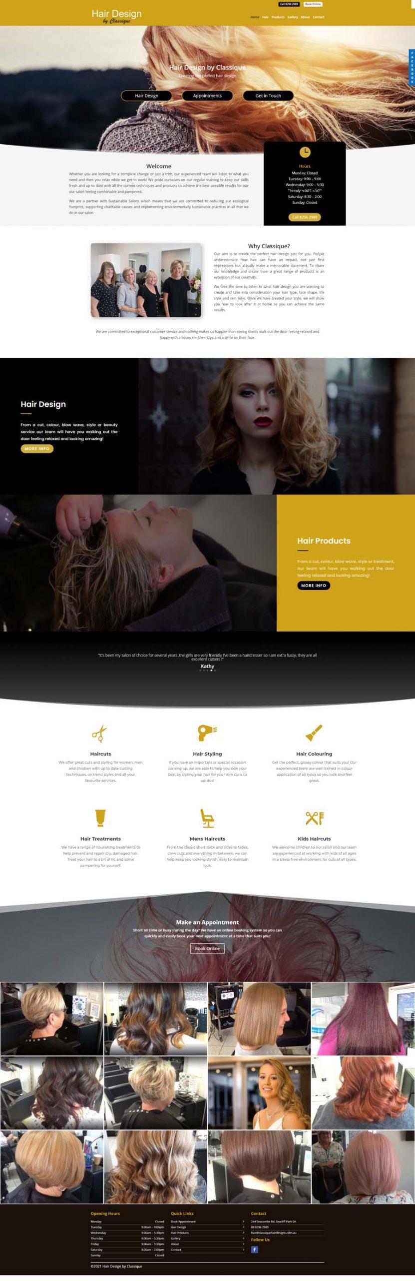 Website Design Adelaide - Hairdresser