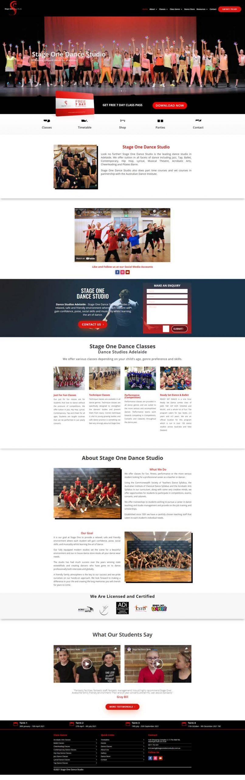 Website Design Adelaide - Dance