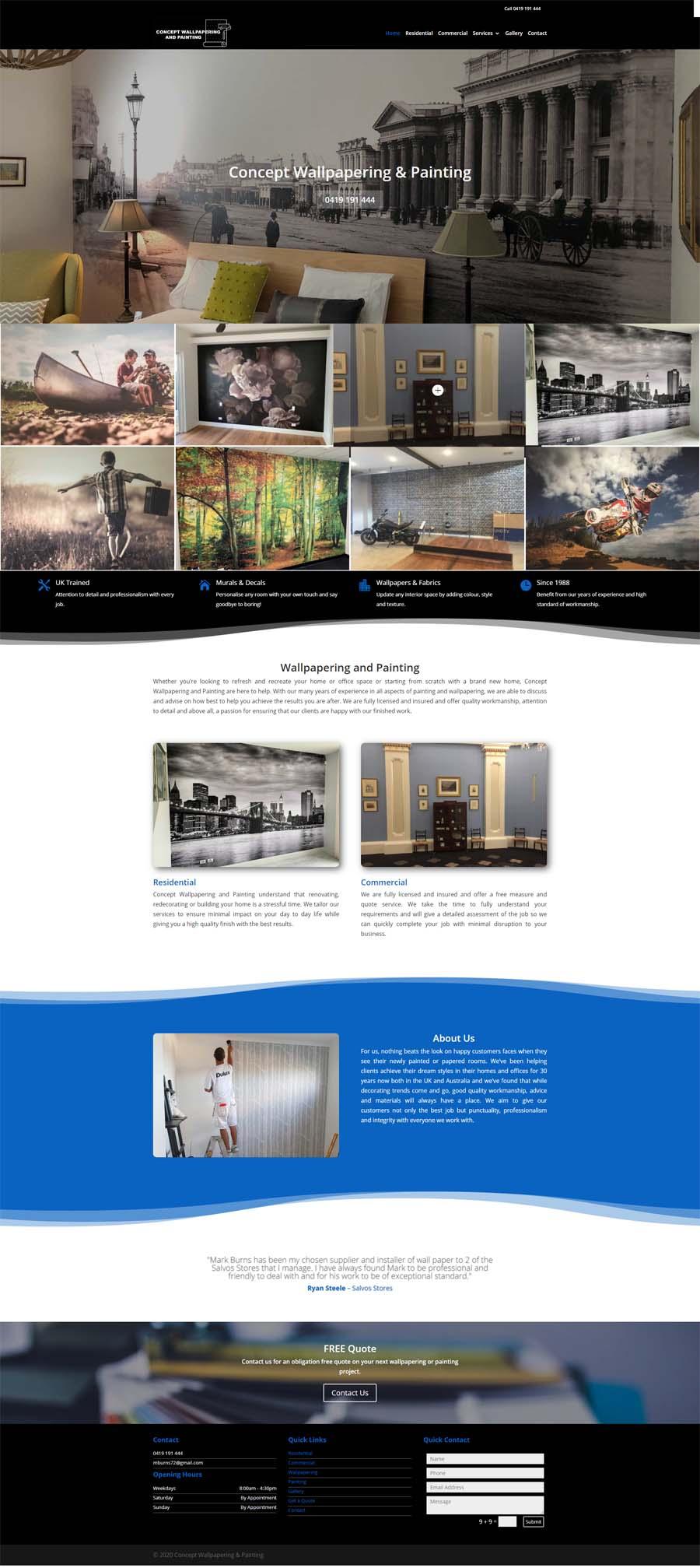 Website Design Adelaide - Painting