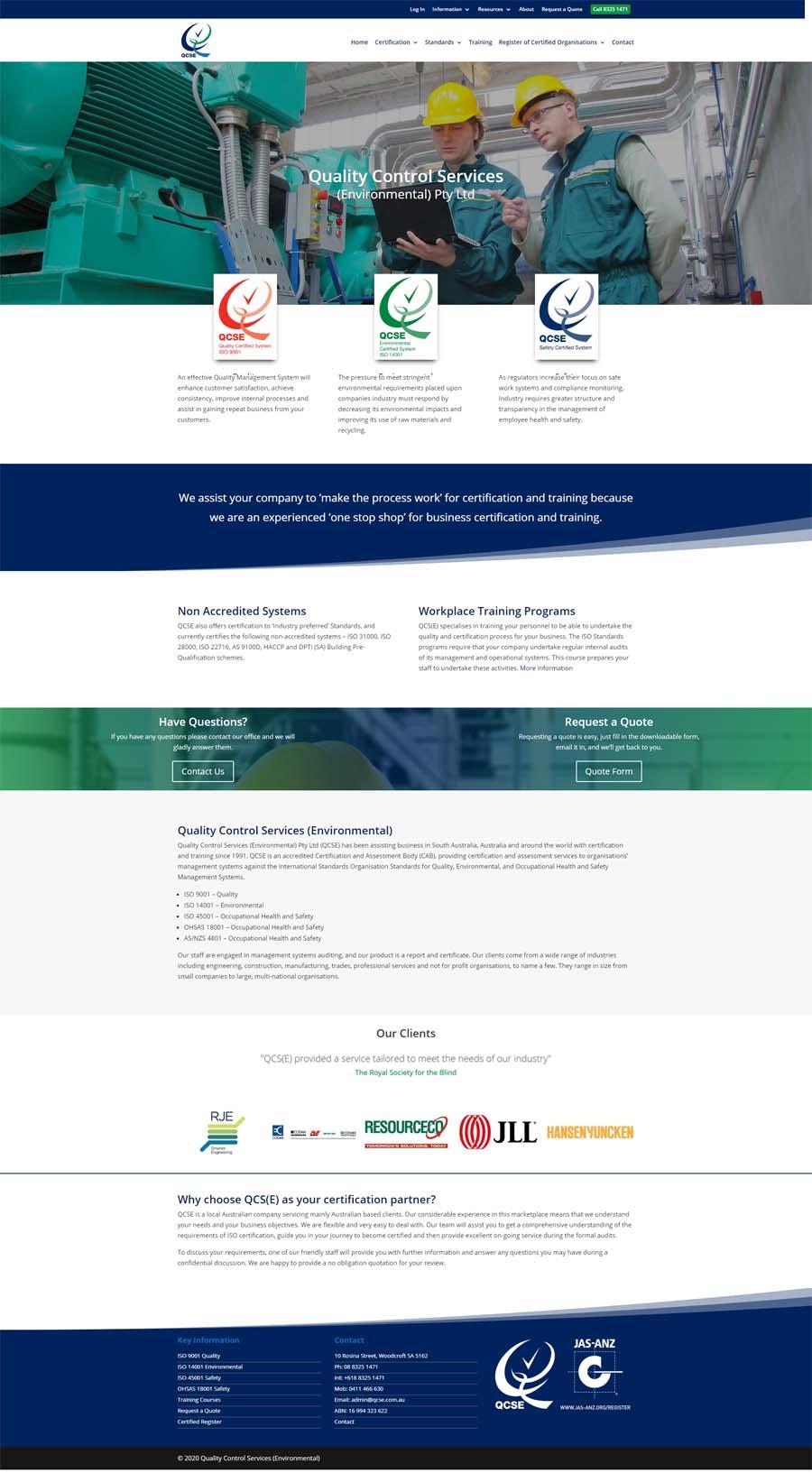 Website Design Adelaide - Quality Control